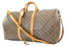 Auth LOUIS VUITTON Keepall Bandouliere 55 Monogram Canvas Duffel Bag #37226