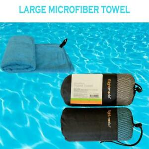 Deluxe Microfiber Travel Towel Sport Beach Towels Ultra Absorbent & Quick Dry