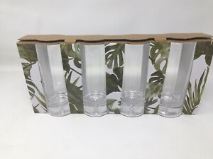 Tommy Bahama Mouth Blown Highball Glass  Set Of 4