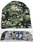 Bulk lot of 48 Assorted Digital Camo Camouflage Winter Knit Beanie Hats