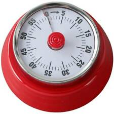 Mechanical Round Kitchen Timer Magnetic Cooking Time Reminder Countdown Alarm US