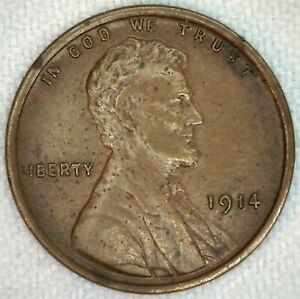 1914 Lincoln Wheat Cents One Cent US Coin XF Extra Fine 1c Penny