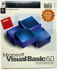 Microsoft Visual Basic 6.0 Standard Learning Edition 6.0 CD-ROM Factory Sealed
