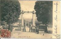 pi 002 1901 Torino - Ponte di ferro sul Po - Viaggiata