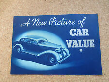 Original 1935 Plymouth cars promotional booklet