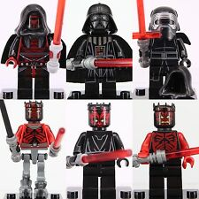 6pcs Star Wars Kylo Ren Darth Vader Custom Lego Minifigures Darth Maul superhero