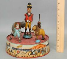 Antique 1925 Louis Marx, Ring-A-Ling, Tin Wind-Up Circus Toy NO RESERVE