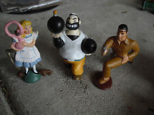 Lot of 3 Pvc Character Figurines Tonto Brutus Alice in Wonderland