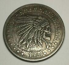 Indian Warrior Novelty Good Luck Heads Tails Challenge Coin Token USA Seller