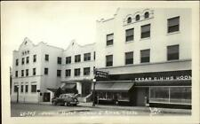 Coeur D'Alene ID Desert Hotel & Street Real Photo Postcard