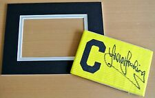 TREVOR BROOKING Signed Captains Armband & free mount display WEST HAM PROOF COA