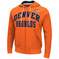 "Denver Broncos NFL G-III ""Pass Attempt"" Full Zip Hooded Men's Sweatshirt Size M"