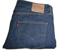Mens Levi's 501 Dark Blue (0162) Denim Jeans W36 L30 Straight Leg