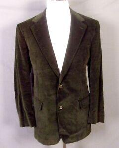 euc Brooks Brothers vintage Olive Corduroy Blazer Sportcoat Country USA sz 41 L