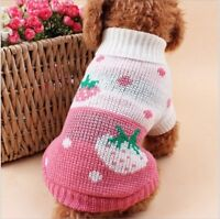 Hundebekleidung Hundepullover Sweater Pullover Chihuahua Rosa M Pulli Warm Yorky