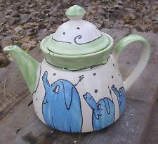 "Kanne Saft Wasser Tee Teekanne teapot  ""family"" mit Tieren Keramik"