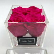 Exklusive Acryl Box, Rosenbox mit konservierten Rosen, Flowerbox, Infinity Rosen