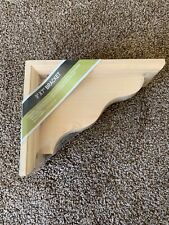 "Waddell CR370 Hardwood Decorative Bracket, Natural, 9"" H x 7"" L"
