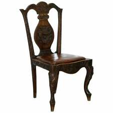 Circa 1890 Chinese Export Dining Chair Chimera Dragons Etc Part Of Large Suite