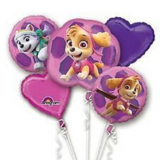 Paw Patrol Girl Birthday Mylar Bouquet Balloons Party Decoration Set of 5