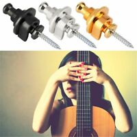 Guitar Metal Round Head Button Straplocks Strap Locks Guitar Bass Buckle
