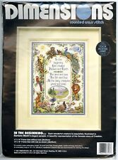"""Dimensions 3717 """"In The Beginning"""" Cross Stitch Pattern & Floss Only 11"""" x 14"""""""