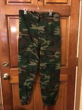 Men's Army Style Camouflage Light Weight Fleece lined Drawstring Waist Pants L