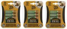 12 x JCB AA Batterie Ricaricabili 1200mah HR6 cariche e pronte per l'uso