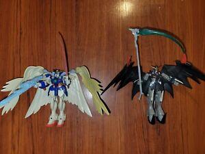 LOT of 2 Mobile Suit Gundam Wing Deathscythe Hell & Zero Custom Action Figures