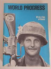 1971 World Progress Quarterly Magazine GI Viet Nam Soldier Cover