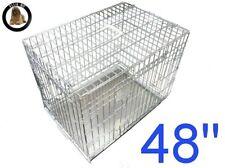 Ellie-Bo Dog Crate 48 inch Silver