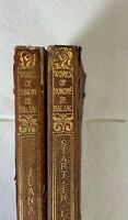 VINTAGE: 1904 Works of Honore' De Balzac by Little Brown Co. (Two Volumes)