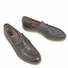 $300 Fratelli Rossetti One Penny Loafers Women's 40 US 9 Purple Leather Platform