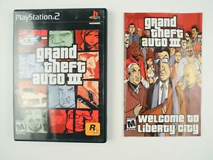 *No Game* Grand Theft Auto III GTA III Sony PlayStation 2 PS2 Case & Manual