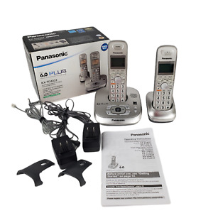 Panasonic KX-TG4022N Champagne Gold Cordless Phone 1.9GHz Dual Handsets in Box