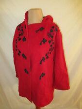* manteau vintage Cacharel Rouge Taille 40 à - 83%