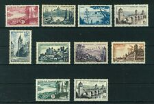 France 1955 Views full set of stamps. Used. Sg 1262-1268b.