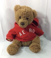 "Aeropostale Soft Plush Teddy Bear with Red Zip-Up A87 Hoodie 15"" 6/2009"