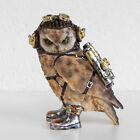 20cm Steampunk Resin Owl Bird Ornament Figure Statue Sculpture Gift Home Decor