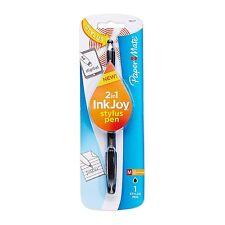 Paper Mate InkJoy 100ST Stick Ballpoint Pen and Touchscreen Stylus, Black