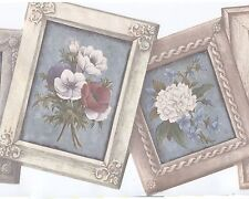 Victorian Picture Frame Wallpaper Border - Dramatic Flowers - Warner Borders 596