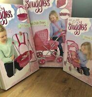 X 3 Bundle Deluxe Dolls Stroller Pushchair Buggy Pram Pretend Play New