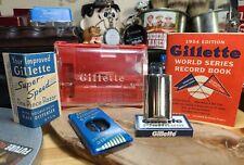 New Listing1954 Z2 Gillette Flare Tip Super Speed Razor orig Case dispenser world series