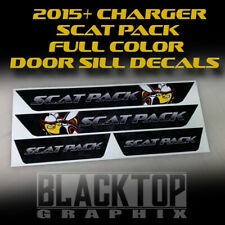 NEW!! Dodge Charger SCAT PACK Door Sill Decals 2015 2016 2017 2018 2019 2020
