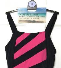 M&S Marks s8 Black Pink Secret Slim Post Surgery Prosthesis Pocket Swimsuit BNWT