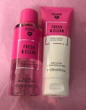 "VICTORIA'S SECRET PINK Lotion & Fragrance Mist Set ""Fresh & Clean"""