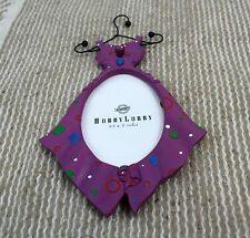 resin purple with polka dot dress shaped picture frame craft jewelry display NWT