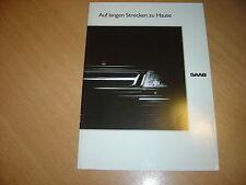 CATALOGUE gamme Saab  de 1989 Allemagne