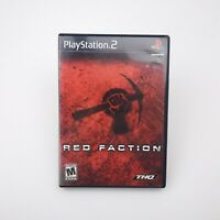 Red Faction (Sony Playstation 2) THQ PS2 Complete in Box CIB w/ Manual | VG Disc