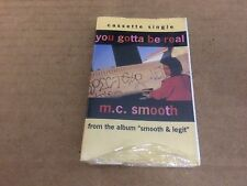 M.C SMOOTH YOU GOTTA BE REAL FACTORY SEALED CASSETTE SINGLE B